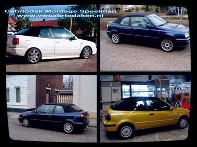 VW Golf 3 & 4 cabrio dak incl montage aan huis  tot bj 2001