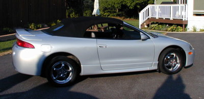Mitsubishi Eclipse 95-99 cabrio dak incl montage op locatie