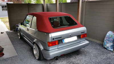 Golf 1 cabrio roof including assembly on site