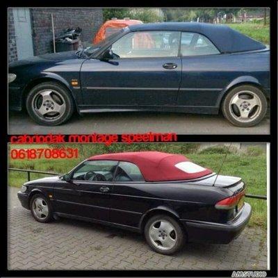 Saab 9-3V2 Topline cabriolet dak incl BTW en montage aan huis