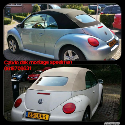 Vw Beetle Economy line cabriolet dak incl BTW en montage aan huis